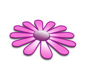 Purple flower in 3d Stock Photos