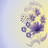 Purple  flower bouquet Royalty Free Stock Photos