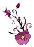 Purple flower and bud Stock Photo