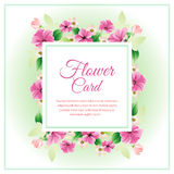 Purple flower card Stock Photography