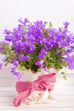 Purple flower decoration Royalty Free Stock Photo