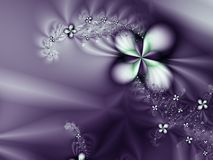 Purple Flower and diamonds Romantic Background Stock Images