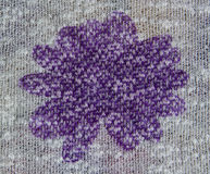 Purple flower fabric Royalty Free Stock Photos