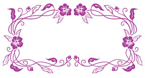 Purple flower frame Stock Photo