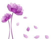 Purple flower. Illustration of purple flower with white background stock illustration