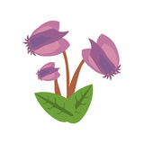 Purple flower image icon Royalty Free Stock Photo
