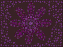 Purple flower made of flowers surrounded by petals Royalty Free Stock Photo
