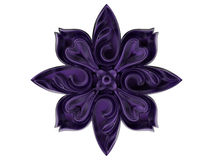 Purple flower ornament. 3D render illustration of a purple flower ornament. The object is isolated on a white background with no shadows vector illustration