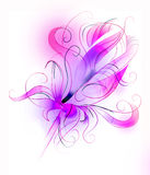 Purple flower over white background Stock Photography