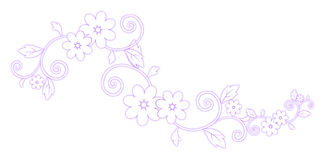 Purple flower pattern Stock Photos