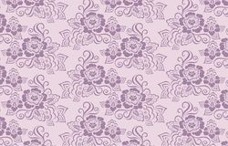 Purple flower pattern Stock Images