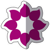 Purple flower with pointed petals icon Stock Images