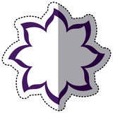Purple flower with pointed petals icon Stock Photo