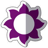 Purple flower with pointed petals icon Royalty Free Stock Photography