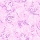 Purple flower seamless pattern Royalty Free Stock Photo