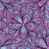 Purple flower swirl connect seamless pattern Stock Image