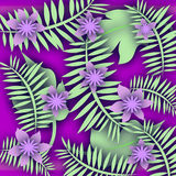 Purple flower tropic Stock Images