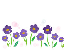 Purple flower vector background Royalty Free Stock Photos