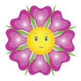 Purple flower stock illustration