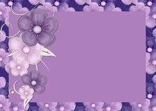 Purple Flowers Background. Lovely display of purple flowers. Great for a website background or greeting card printing stock illustration