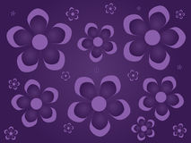 Purple Flowers Background Stock Images