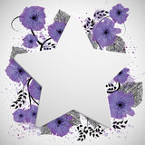 Purple flowers background Royalty Free Stock Photography