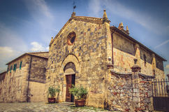 Monteriggioni - Chiesa di Santa Maria Assunta - siena - tuscany Stock Photography