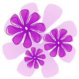 Purple Flowers Clip Art Stock Image