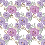 Purple flowers floral seamless pattern background Stock Image