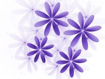 Purple Flowers Fractal Royalty Free Stock Photo