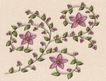 Purple Flowers Illustration Stock Images