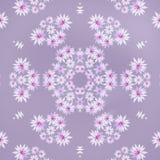 Purple flowers in mandala royalty free illustration