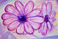 Purple flowers painting Royalty Free Stock Photos