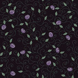 Purple Flowers Pattern. Royalty Free Stock Image