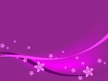 Purple Flowers & Ribbons royalty free illustration