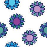 Purple flowers seamless Stock Photography