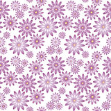 Purple flowers seamless pattern Stock Images