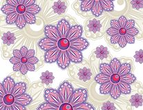 Purple Flowers Wallpaper Royalty Free Stock Images