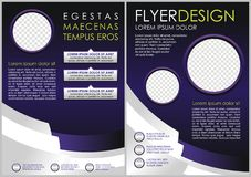Purple Flyer template. Brochure design. A4 business cover Royalty Free Stock Images