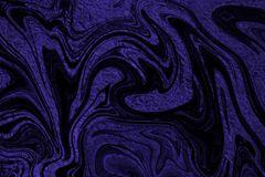 Purple foil with an overlay of spooky black shapes. Shiny and crimped purple foil with an overlay of spooky, ghost like black shapes Royalty Free Stock Photos