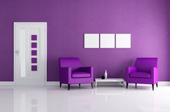 Purple foyer Royalty Free Stock Photography