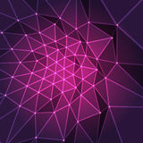 Purple fractal design Royalty Free Stock Image