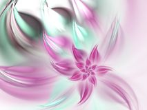 Purple fractal flower vector illustration