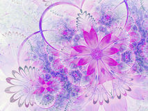Purple fractal flowers Royalty Free Stock Photo