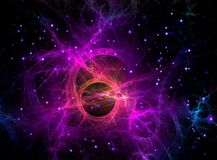 Purple fractal Galaxy in space, Sci-Fi Stock Photos