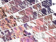 Purple fractal pattern of oblique tiles Royalty Free Stock Photography