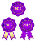 Purple frame 2012. Frame with a purple ribbon 2012 characters Royalty Free Stock Photography