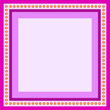 Purple frame. For greeting card with flowers Stock Photos