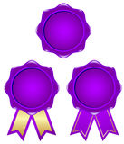 Purple frame. Purple ribbon with a simple frame Stock Images