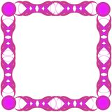 Purple frame. Abstract frame for text, vecor format and jpg stock illustration